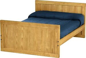 Crate design double bed - solid pine - excellent condition