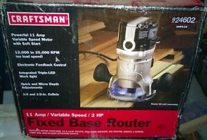 Craftsman 11amp 2HP router - new in box