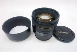 Sony Minolta 85 1.4 G lens A-mount FE-mount via LA-EA4 (not inc)