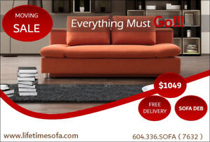 Sofa bed with storage and adjustable armrest,