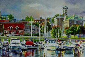 Giclee Print from a watercolour of the Brockville Harbour.