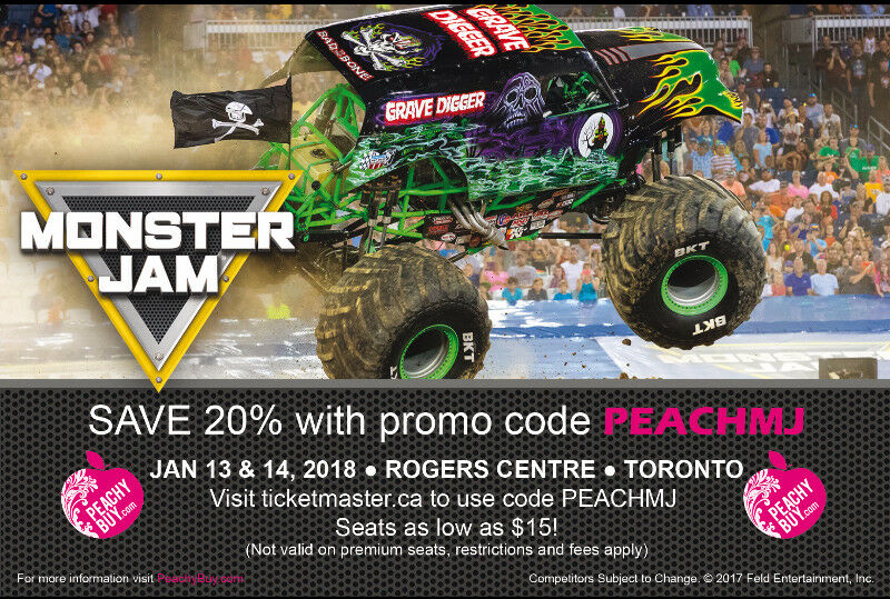 Top online Monster Jam promo codes in December , updated daily. You can find some of the best Monster Jam promo codes for save money at online store Monster Jam. Take $6 Off Monster Jam Ticket. Details: Tap deal to replicate the voucher code. Remember to paste code .