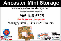 Moving ? We have Boxes, U-Hauls and Storage