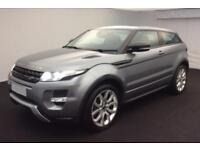 2013 GREY RANGE ROVER EVOQUE COUPE 2.0 SI4 DYNAMIC CAR FINANCE FR £75 PW