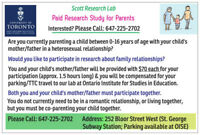 PAID Study for PARENTS ($70 EACH Parent), ONLY 1.5Hours Long