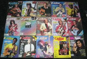 Guitar Player Magazines from 1984 to 1987