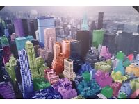 Stunning New York City high quality canvas - glows in the dark