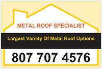 Metal Roofing & Seamless Eavestrough.  Largest Selection