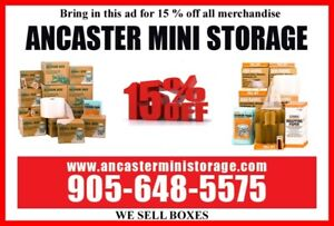 Moving or Renovating? Store with Ancaster Mini Storage