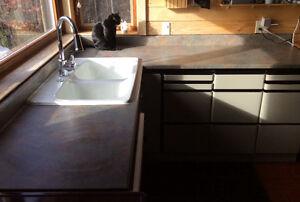 Comptoir de cuisine et évier en porcelaine //Sink and comptoirs Gatineau Ottawa / Gatineau Area image 2