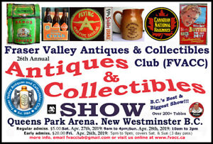26th Annual FVACC Antiques & Collectibles Show Apr. 26, 27, & 28
