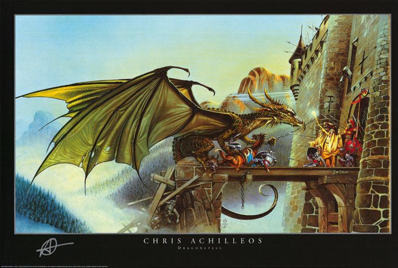 POSTER : FANTASY: DRAGONSPELL  by CHRIS ACHILLEOS - FREE SHIP ! #2086  RAP127 B