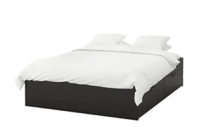 IKEA - BRIMNES - Bed frame with storage, black, Luröy