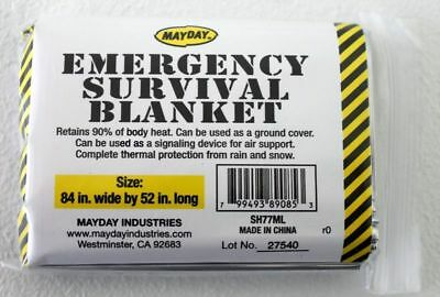 2 Mayday Emergency Survival Blanket,Disaster, Bug-Out-Bag,First Aid,Camping (Survival Bag Bundle)