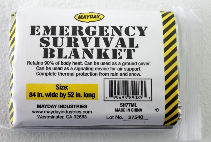 2 Mayday Emergency Survival Blanket,Disaster, Bug-Out-Bag,Fi