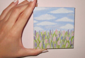Lavender Field Painting for sale