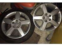 Pair of Vauxhall Alloy Wheels
