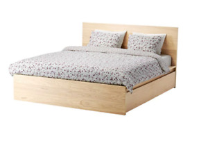 Lit haut MALM Grand 2 places / High bed frame Full Double