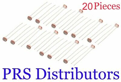 20 Pieces Photoresistor Ldr 5mm Light-dependent Resistor Sensor Gl5528 Photocell