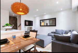 2 br, 2 bth furnished Liberty Village townhome for rent