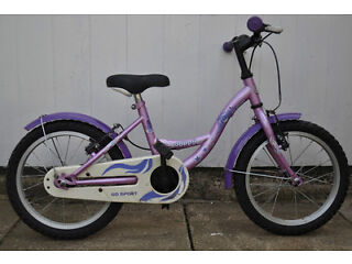 "Girls Purple Go Sport Joppy 16"" wheel bike child 5-7 years old (112 - 125cm)"