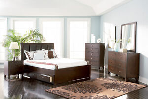NEW! Cappuccino Queen Storage Bed FREE Delivery!