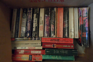 For Sale is a box of  used 65   Books Various Titles