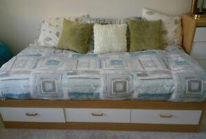 Ikea Twin Bed with Mattress, Dresser, Mirror