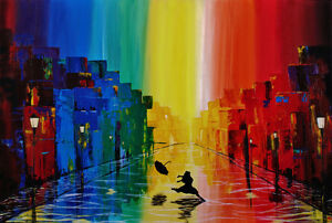 """New, Original Painting """"The Colour of Happiness"""""""