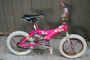 "Girls Barbie Pink Bicycle Bike 14"" Wheels"