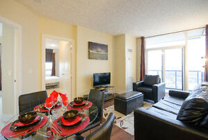 DELUXE!!!FULLY FURNISHED 2 BEDROOM APARTMENT NEAR SQUARE ONE!!!