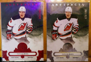17-18 ARTIFACTS 2 CARD LOT TAYLOR HALL SHORT PRINTS. /299 + /599