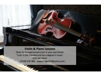 Piano and Violin Lessons - In Your Own Home - Experienced Teacher - West Bromwich - Sandwell