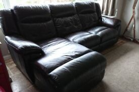 La-z-Boy, (lazy boy) real leather, reclining corner style sofa