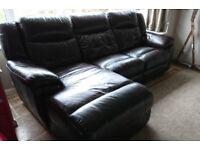 La-z-Boy, (lazy boy) real leather, reclining corner style sofa