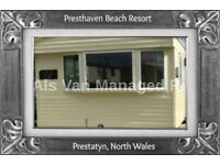 BRYN HORIZON: PRESTHAVEN BEACH RESORT, PRESTATYN, N.WALES: SLEEPS 7 MAX, NO PETS