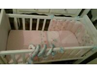 Mothercare Hyde Crib with Full Bedding Set