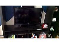 IKEA black solid wood tv cabinet