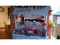 CINDERELLA CARRIAGE cake display stand and CANDY CART for Hire