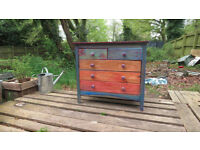 Art Painted Chest of Drawers