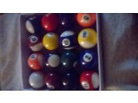 full set of pool balls, not now needed