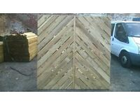 6ft x 5ft CHEVRON DESIGN FENCE PANEL TANALISED TIMBER USED