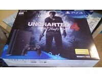 BRAND NEW PS4 500GB BLACK UNWANTED GIFT COMES WITH UNCHARTED 4 GAME AND CONTROLLER ALL LEADS