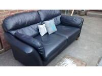 NEXT BLACK LEATHER SOFA