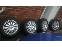 4x Fork Spoked Alloys for Rover 75