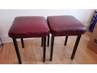 Two leather stool