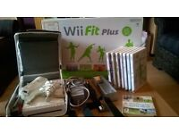 Wii bundle with wii fit and games and extras