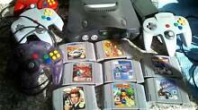 Nintendo 64 consoles 8 games 4 controllers, Pokemon stadium, DKR Yagoona Bankstown Area Preview