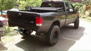 Black Ford Ranger Truck