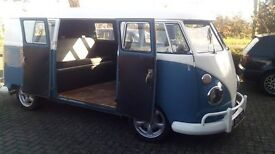 volkswagen VW splitscreen camper 1963 needs touch up on paint runs drives purrs like a kitten